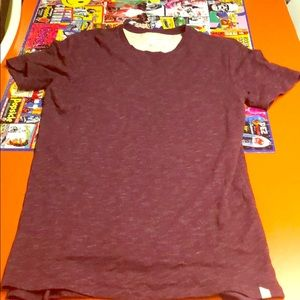 Long line maroon shirt